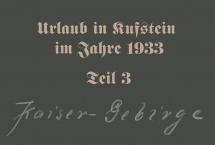 Urlaub in Kufstein 1933 - Teil 3 (Bilder des Monats - November 2020)